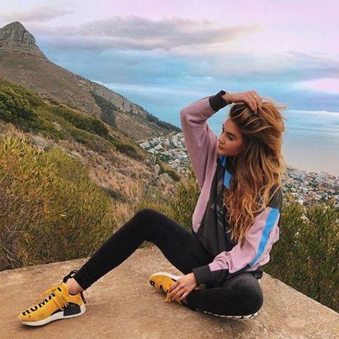 Stefanie Giesinger ist als Model überall auf der Welt gefragt. Ihre Laufausrüstung hat sie natürlich auch in Kapstadt immer dabei.