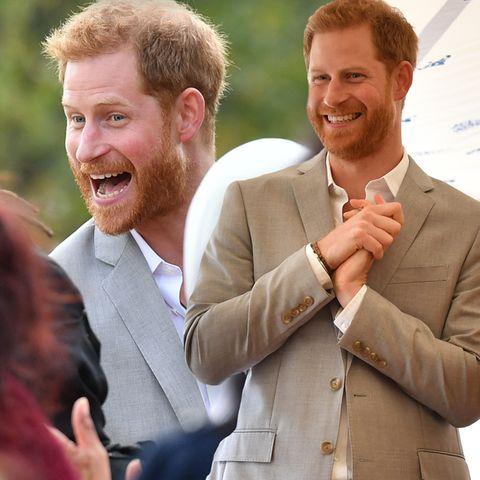 Bei Termin mit Herzogin Meghan: Ist eine Schwangerschaft der Grund für Prinz Harrys gute Laune?