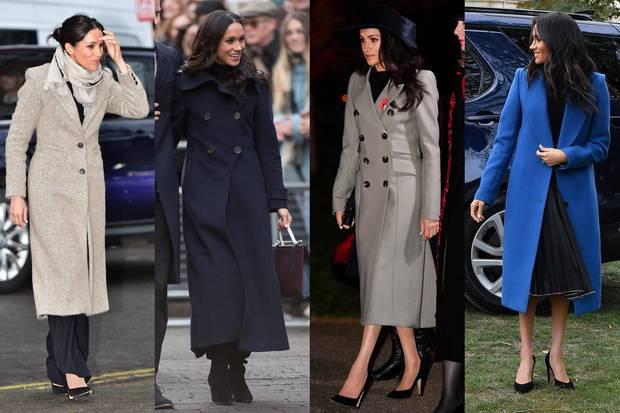 Der Klassiker unter den Mänteln: Mit zweireihiger Knopfleiste und breitem Kragen peppen die herbstlichen Mäntel der Herzogin jedes Outfit auf.