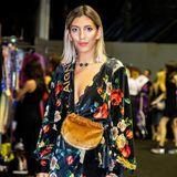 Backstage vor der Show von Aigner: Bloggerin Aylin König zeigt sich in einem coolen Look des Labels.