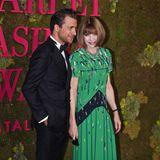 Vogue-ChefinAnna Wintour, hier mit dem Regisseur Francesco Carrozzini, darf bei den Green Carpet Fashion Awards natürlich nicht fehlen.