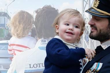Wie aufregend, Prinz Alexander! Auf Papas Arm zum Autorennen