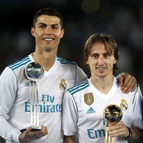 Ronaldo, links, und Luca Modric