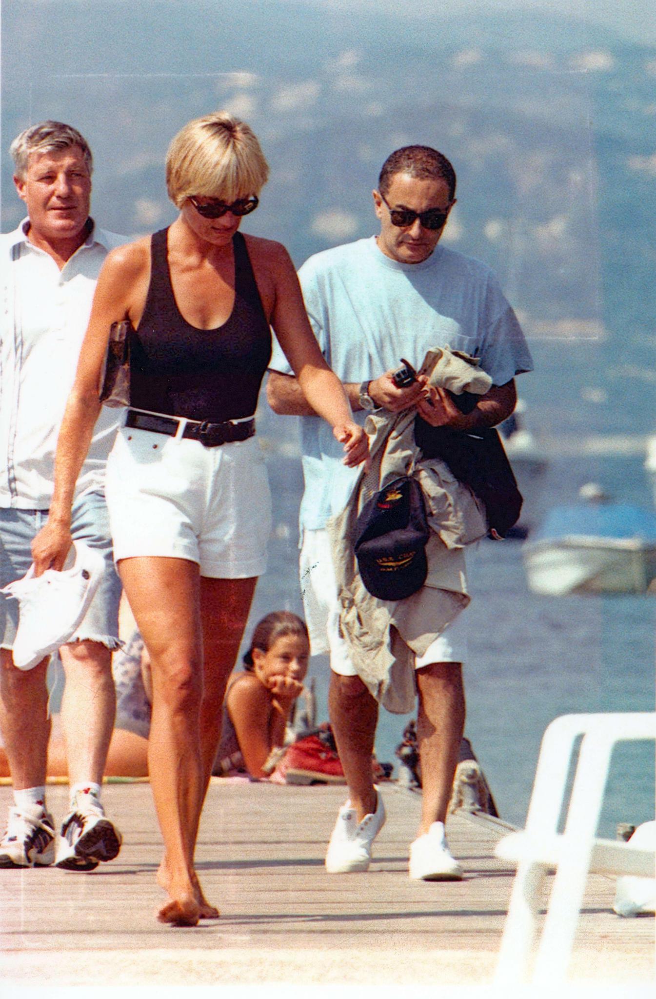 Prinzessin Diana und Dodi Al-Fayed in ihrem letzten Urlaub in St. Tropez