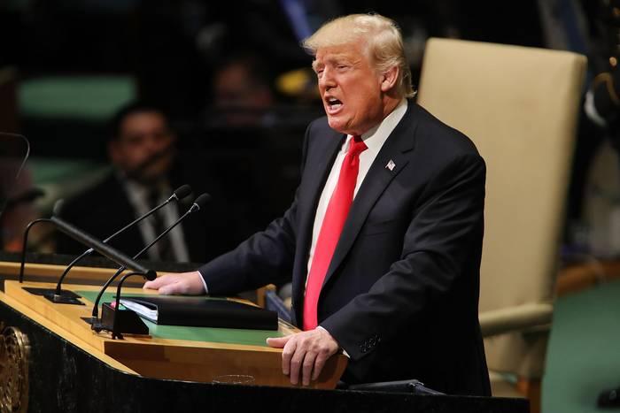 Donald Trump spricht vor den Vereinten Nationen in New York