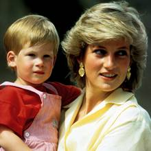 Prinz Harry und Mutter Prinzessin Diana