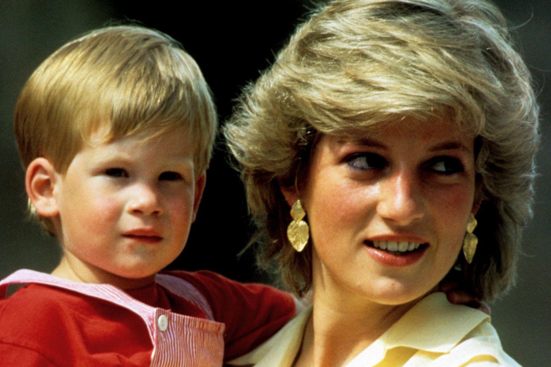 Prinz Harry und Mutter Prinzessin Diana