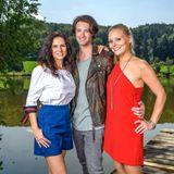 """In """"Sturm der Liebe""""-Staffel 15, die am 28. Oktober 2018 startet,spielen Helen Barke, Julian Schneider und Jenny Löffler (v.l.n.r.) das Liebes-Trio"""