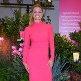 Strahlend schön in Pink zeigt sich Michelle Hunziker bei der Vorstellungihrer neuen Naturkosmetik- und Baby-Produktserie Goovi.Aber nicht nur sie begeistert bei dem Launchin Mailand.