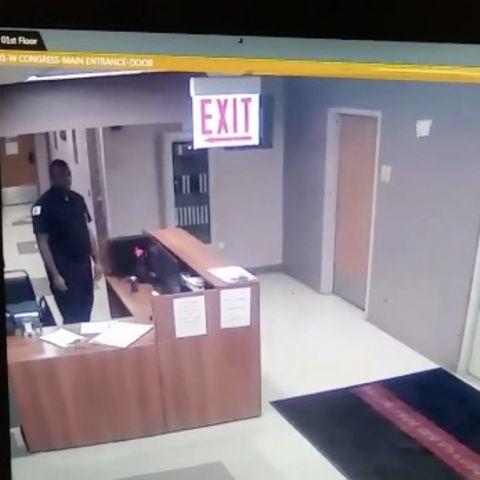 Sicherheitsmann entdeckt gruselige Gestalt