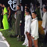 Nicht nur Bella Hadid und Kaia Gerber präsentierten die neue Off-White-Kollektion, Kendall Jenner war ebenfalls gebucht.