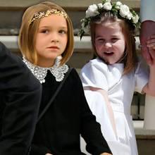 Harper Beckham und Prinzessin Charlotte zeigen, wie gut ihnen Blumenkränze im Haar stehen.
