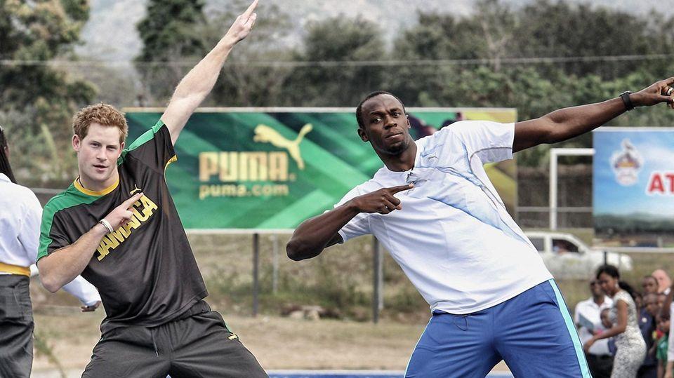 Prinz Harry + Usain Bolt