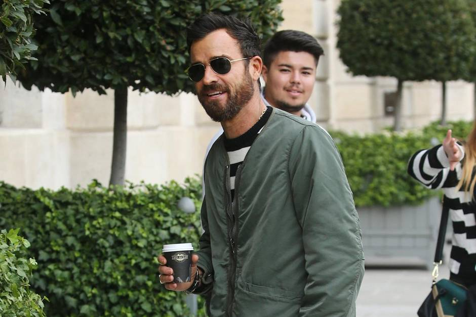 Justin Theroux in Paris