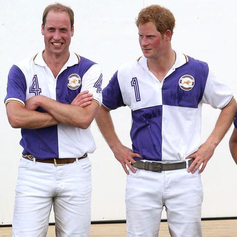 Prinz William und Prinz Harry bei einem Polospiel