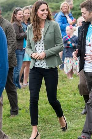 Herzogin Catherine absolviert am 31. August 2013 ihren ersten öffentlichen Auftritt nach der Geburt von Prinz George
