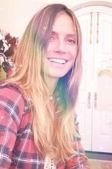 Heidi Klum liebt in ihrer Freizeit den No-Makeup-Look. Schminke wäscht sie mit einem Baby-Shampoo ab.