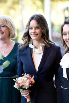 04. Oktober 2018   Prinzessin Sofiabei der Eröffnung der neuen kognitiven Station für effektive Untersuchungen bei Verdacht auf Demenz im Karolinska-Universitätskrankenhaus in der schwedischen Stadt Solna.