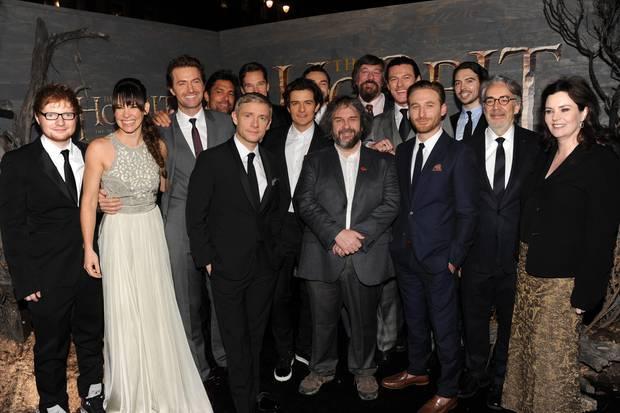 """Ed Sheeran bei der Premiere von """"Der Hobbit: Smaugs Einöde"""""""