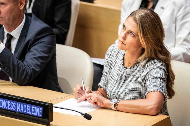 Prinzessin Madeleine von Schweden bei einem Seminar der Vereinten Nationen