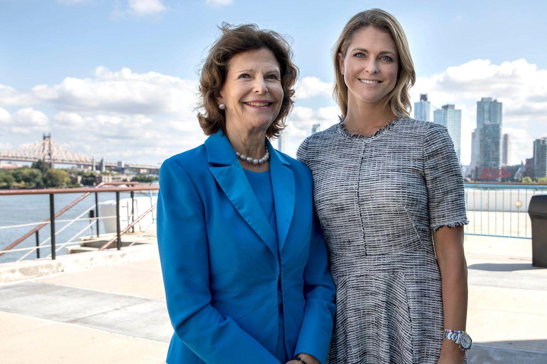 Königin Silvia von Schweden und Tochter Madeleine bei einem gemeinsamen Termin in New York