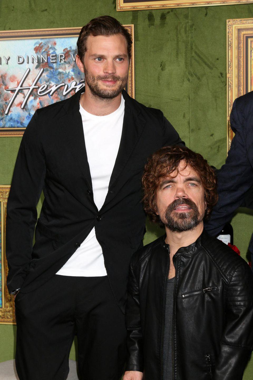 """4. Oktober 2018  Starauflauf bei der Premiere des Films """"Mein Abendessen mit Hervé"""": Jamie Dornan (li.) und Peter Dinklage gehören zu den Stars des Dramas."""