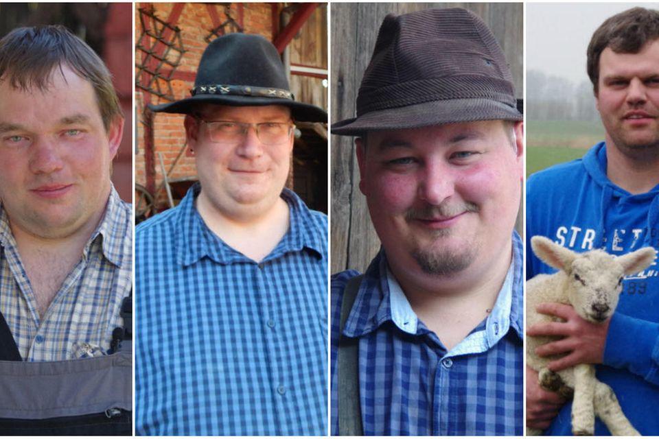 """Die """"Bauer sucht Frau""""-Kandidaten Martin, Thomas, Christian """"Rüß"""" und Hendrik können in Staffel 14 leider dochnichtdabei sein ..."""