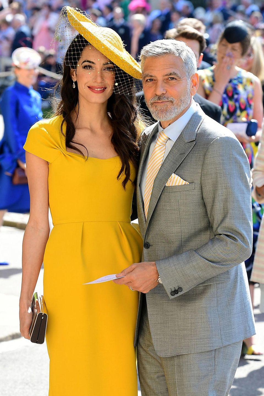 George Clooney mit seiner Frau Amal bei der Hochzeit von Prinz Harry und Herzogin Meghan im Mai