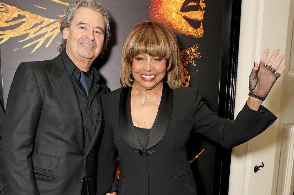 "Erwin Bach und Tina Turner bei der Premiere des Musicals ""Tina: The Tina Turner Musical"" in London am 17. April 2018"