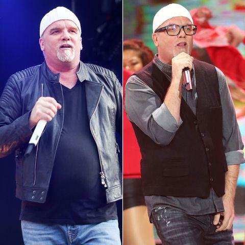 DJ Ötzi 2016 und DJ Ötzi 2018: Der Sänger hat deutlich an Gewicht verloren.