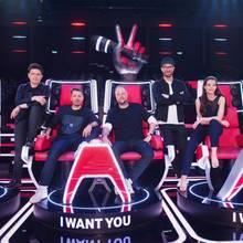 Die aktuelle TVOG-Jury: Michael Patrick Kelly, Michi Beck, Smudo, Mark Forster und Yvonne Catterfeld