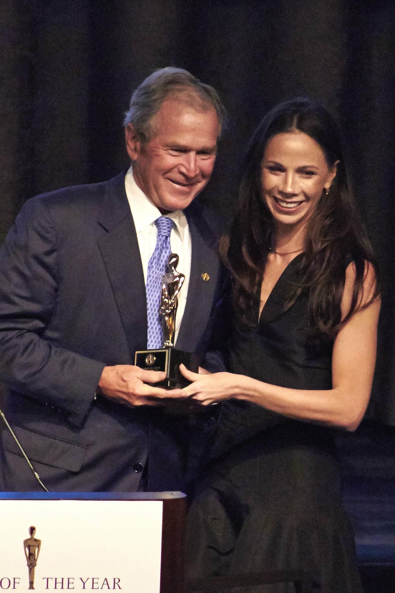 George W. Bush mit Tochter Barbara