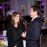 "3. September 2012   Prinzessin Eugenie und Jack Brooksbank besuchen das ""Freddie For A Day""-Event zu Ehren des Queen-Sängers Freddie Mercury im Hotel ""Savoy"" in London."