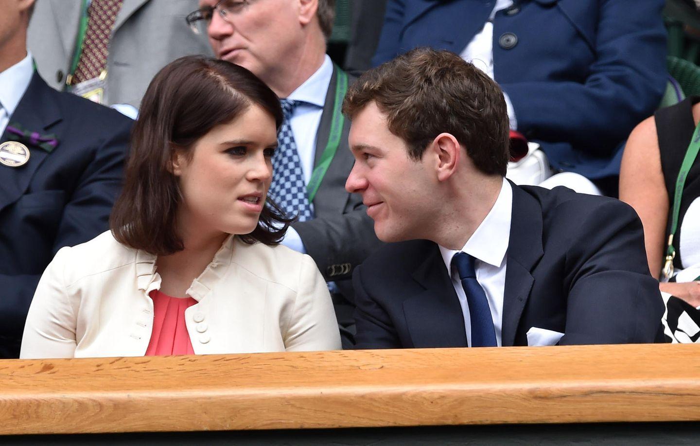5. Juli 2014  Eugenie zu Besuch in der Heimat. Gemeinsam besucht das Paar das Tennisturnier in Wimbledon.