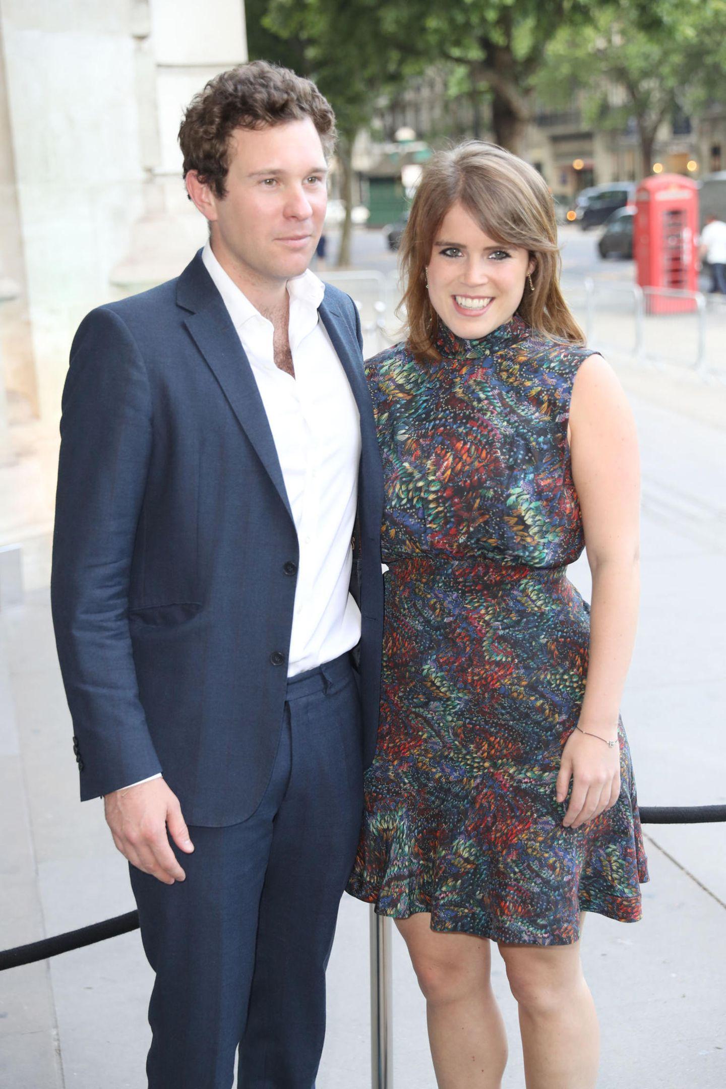 """21. Juni 2017  Gemeinsam besuchen Jack und Eugenie die """"V&A Summer Party"""" im """"Victoria & Albert""""-Museumim Londoner Stadtteil Kensington."""