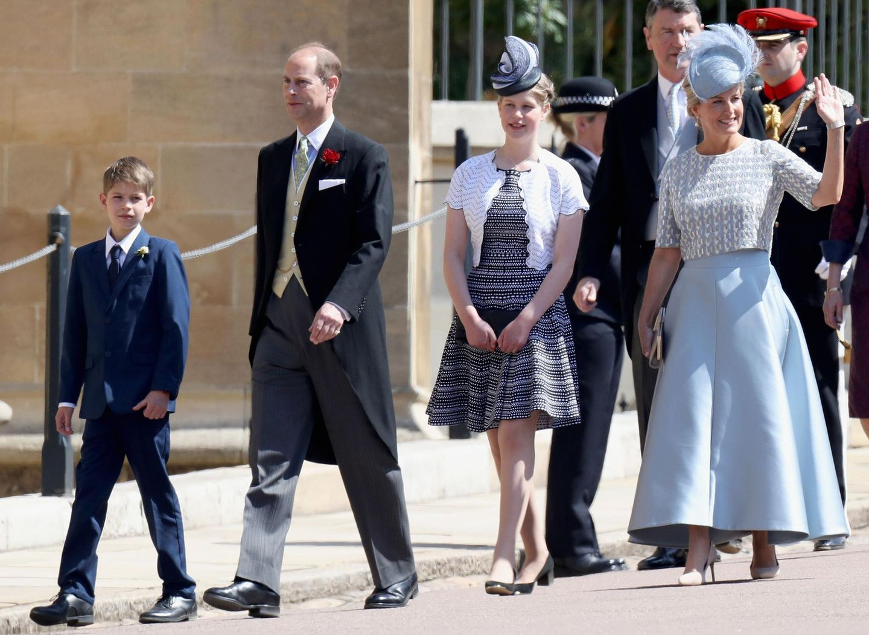 Prinz Edward und Sophie von Wessex mit ihren Kindern James und Louise.