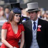 18. Juni 2011  Beim Pferderennen in Ascot haben Prinzessin Eugenie und Jack Brooksbank im Juni 2011 ihren ersten offiziellen Auftritt als Paar.