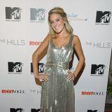 """Heidi Pratt, damals noch Heidi Montag, erscheint zum Serien-Start von """"The Hills"""" im Mai 2006 in einem silberfarbenen Pailletten-Kleid und dazu farblich abgestimmteStillettos. Heute sieht man von dem natürlichen Look der damals 20-Jährigen nicht mehr viel ..."""