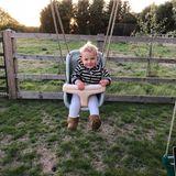 26. September 2018  Beim Schaukeln hat der kleine Cooper mächtig Spaß.