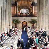 So langsam füllt sich die St. George's Chapel. Um die 800 Hochzeitsgäste haben darin Platz.