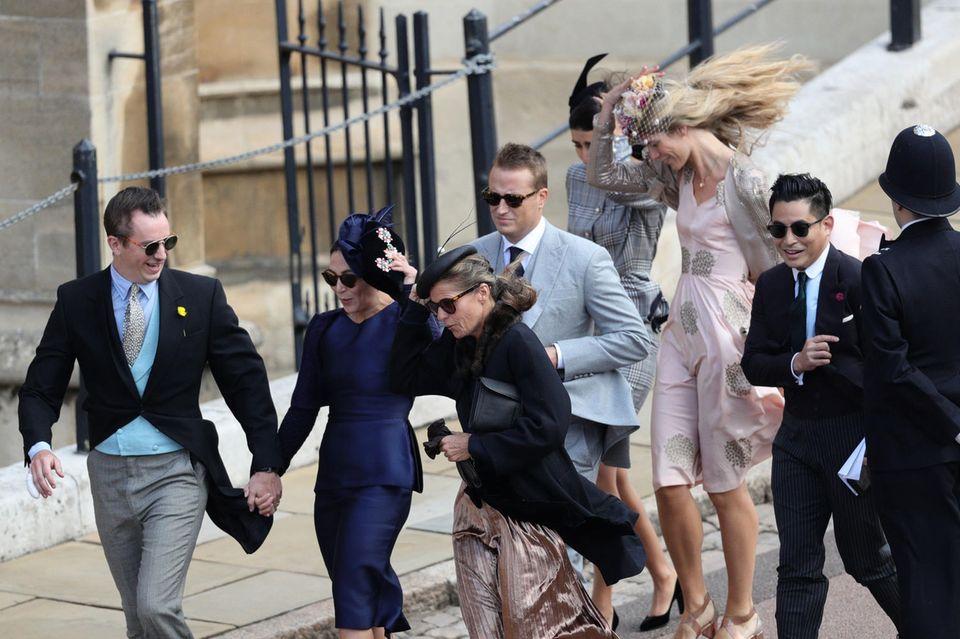 Die Gäste kämpfen mit dem Wind