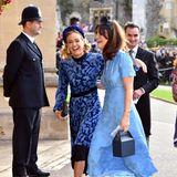 Die Laune könnte trotz des windigen Wetters gar nicht besser sein, auch nicht bei Prinz Harrys Ex-Freundin Cressida Bonas.