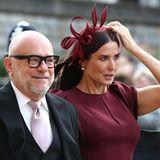 Auch Demi Moore muss ihren Hut gut festhalten.