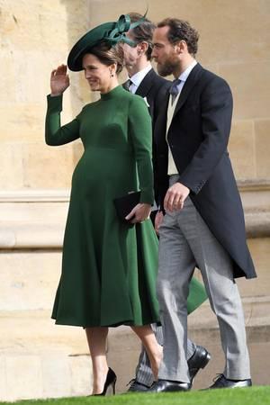 Mit Babykugel zur Kirche: Pippa Middleton soll noch im Oktober ihr erstes Kind zur Welt bringen.
