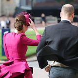 Auch Herzogin Catherine und Prinz William müssen aufpassen, nicht weggeweht zu werden.