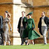 Pippa Middleton erregt mit ihrer süßen Babykugel in Grün natürlich viel Aufmerksamkeit.