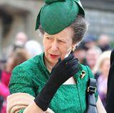 Ebenfalls in Grün: Prinzessin Anne