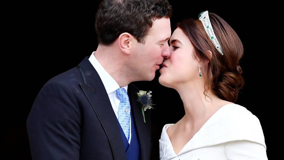 Prinzessin Eugenie + Jack Brooksbank: So romantisch war ihr erster Hochzeitskuss