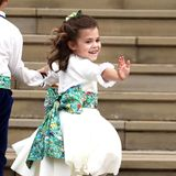 Von den Blumenkinder bezaubert ganz besonders Robbie Williams' und Ayda Fields' süße TochterTheodora Rose.