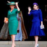 Die Brautmutter und -schwester Sarah Ferguson und Prinzessin Beatrice schreiten gemeinsam in die Kapelle.